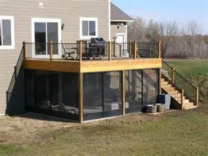 screen porch deck northfield traditional deck