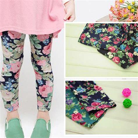 Legging Cotton Stretch Pink Flower 2015 cotton floral fashion stretch sale childrens
