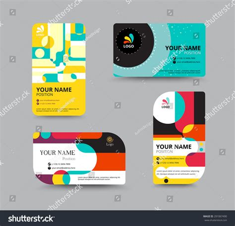 pattern name card vector name card