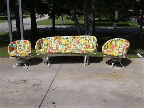 mid century vintage homecrest patio lawn furniture chairs