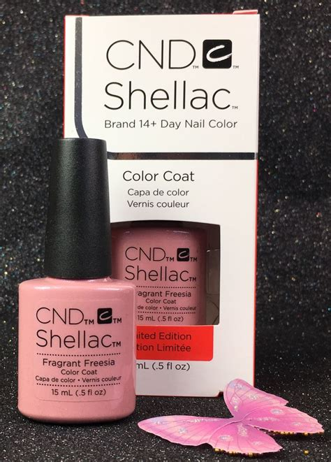 cnd l bulbs cnd shellac fragrant freesia 91746 gel color coat 15 ml 0