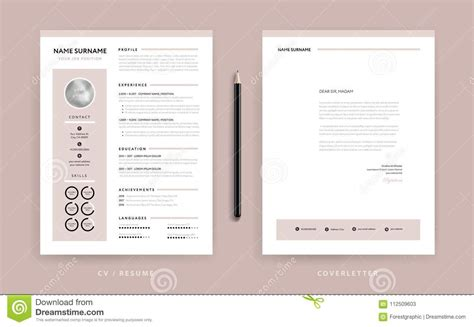 elegant cv resume cover letter template dusty rose