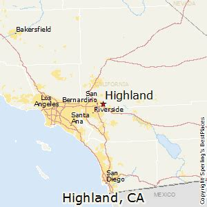 highland california map best places to live in highland california