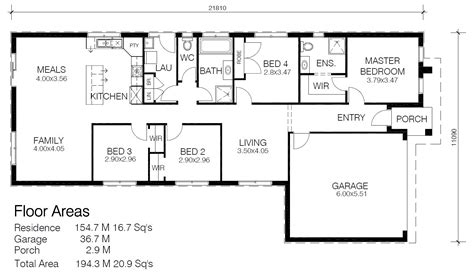longhouse floor plans house plans wide frontage blocks home design and style