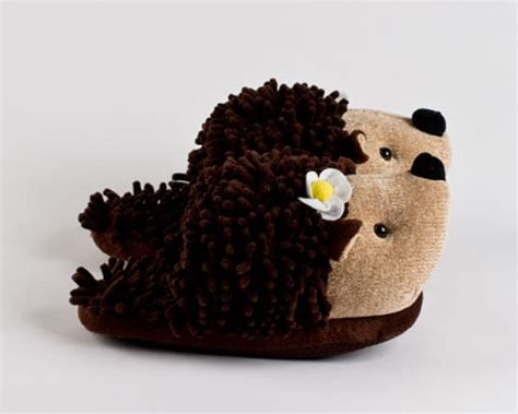 fluffy animal slippers hedgehog slippers hedgehog slippers