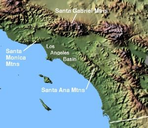 southern california mountain ranges map monts santa wikip 233 dia