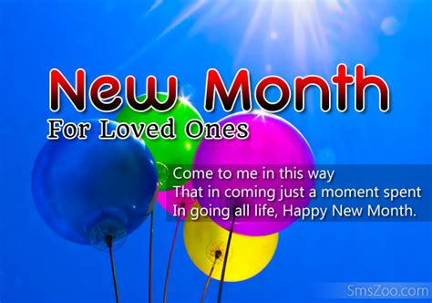 happy new month greetings sms for my loved ones
