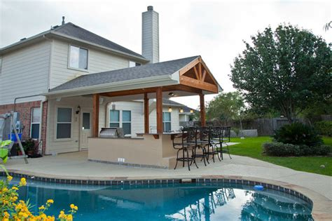 S Home Decor Houston outdoor kitchen and patio cover in katy tx traditional