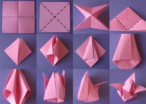 Origami Flower Easy Step By Step - diy origami lotus flower tutorial step by step step by