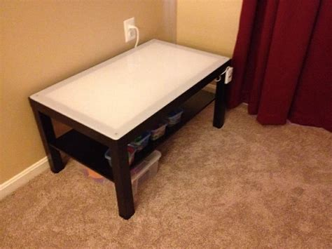 ikea hack diy light table with a lack table the how to