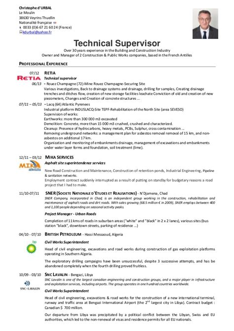 Best Resume Template Yahoo by Cv C D Urbal Technical Supervisor 176 176