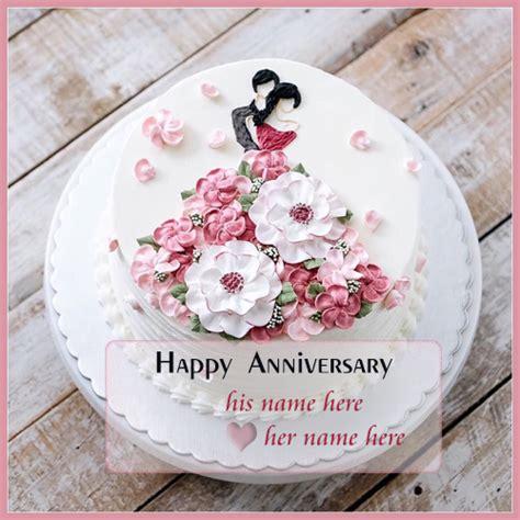 romantic anniversary cake   edit