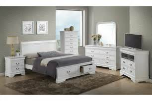 white king size bedroom furniture bedroom sets dawson white king size storage bedroom set