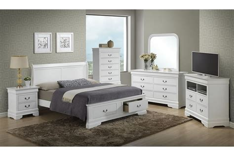 bedroom sets dawson white king size storage bedroom set newlotsfurniture
