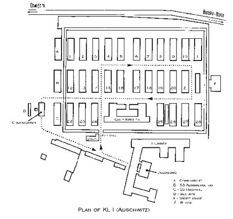 auschwitz diagram the gallery for gt holocaust concentration cs layout