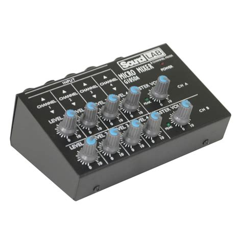 Audio Mixer Radio soundlab 4 channel stereo microphone mixer