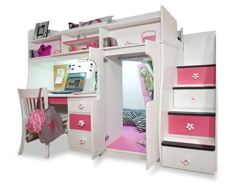 bunk beds for girls with desk girls loft beds for teens berg furniture play and study