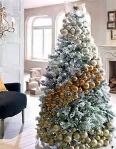 arbol de navidad elegante nevado moda y hogar