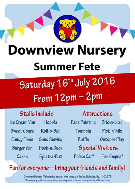 summer fair flyer template summer fete poster downview nursery