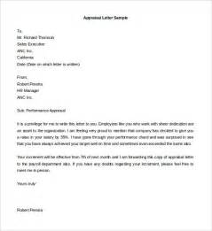 Appraisal Letter To Employer Employee Review Letter Template Letter Template 2017