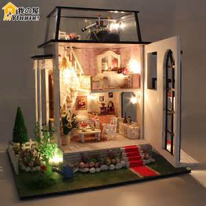 Small Cottage Kits aliexpress com buy diy doll house miniature wooden