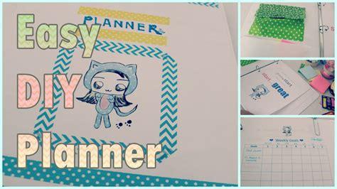 diy schedule planner agenda organizer for back to