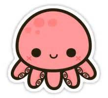 Wall Art Stickers Uk quot cute octopus quot stickers by peppermintpopuk redbubble