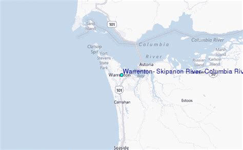 Columbia River Tide Tables by Warrenton Skipanon River Columbia River Oregon Tide Station Location Guide