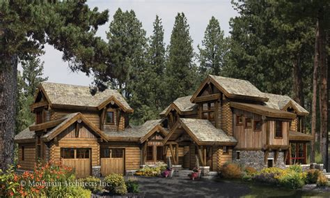Log Cabin With Wrap Around Porch Log Cabin Home Plans Mountain Log House Plans