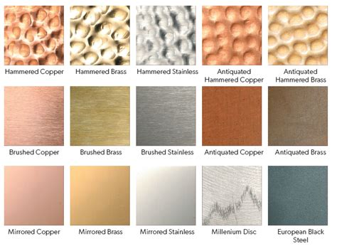 color of metals finish and trim options prizer hoods