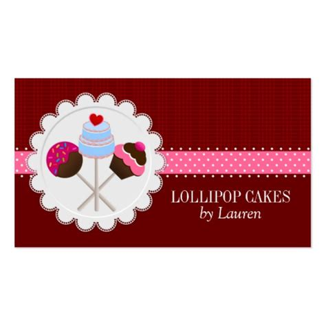 cake pop business card template cake pops business cards zazzle