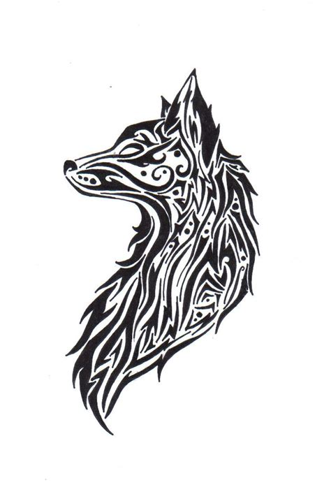 tribal wolf drawing glass etching pinterest