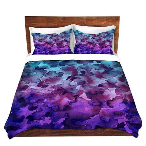 art bedding color me floral 5 blue purple ombre art watercolor duvet