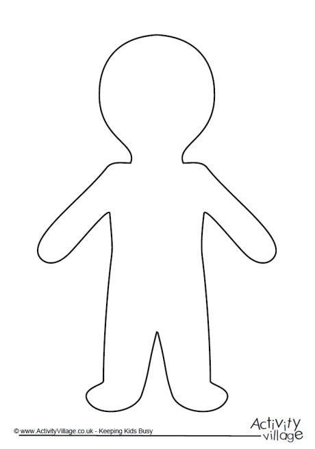 cut out person template person template