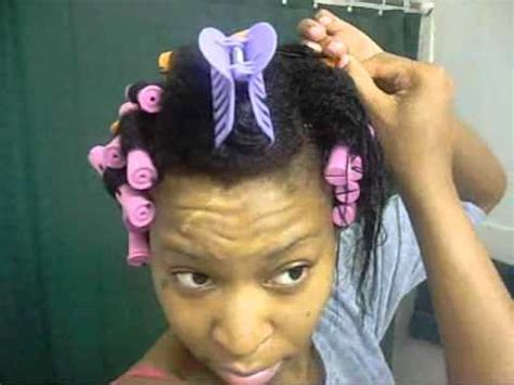 cold wave rod curl styles for black hair natural hair journey cold wave rod set on wet hair youtube