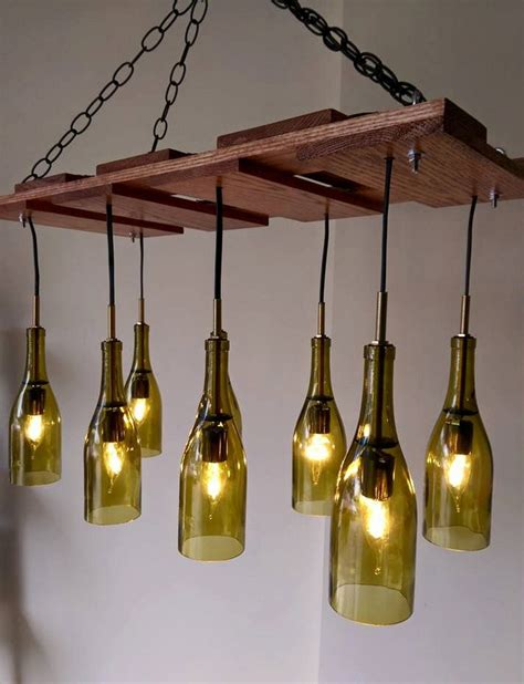 Wine Bottle Light Fixture Chandelier Learn How To Build A Wine Bottle Chandelier Your Projects Obn