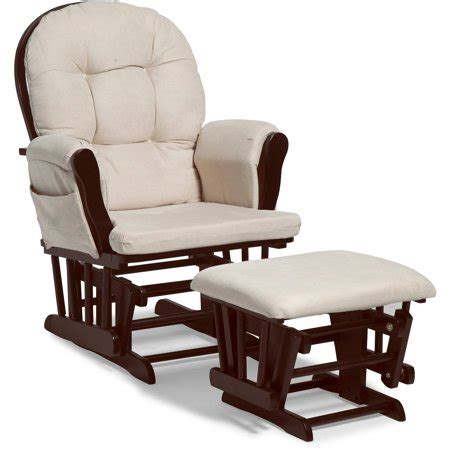 glider rocker with ottoman storkcraft bowback glider and ottoman espresso with beige
