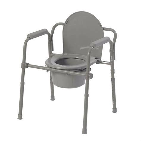 Senior Potty Chair - folding bedside commode portable bedpan toilet handicap