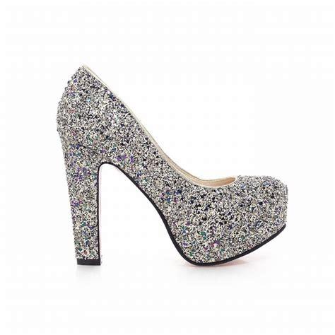 Glitter Wedding Shoes by High Heels Glitter Wedding Shoes My Wedding Ideas