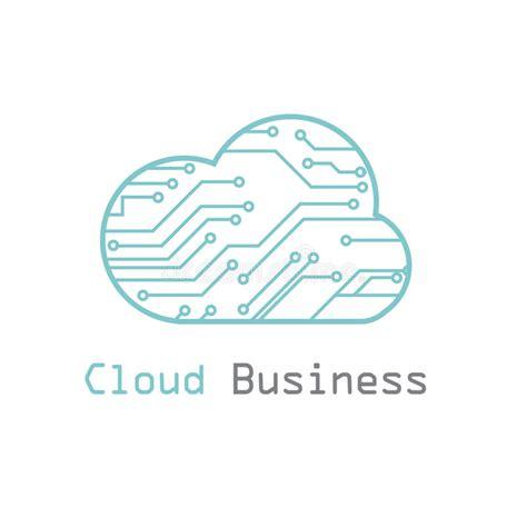 Cloud Business Logo Vector Template Stock Vector Image 46667638 Cloud Business Template