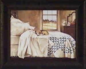 Dogs Sleeping In Bedroom Amazon Com Home Alone By John Rossini 17x21 Dog Beagle