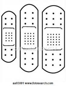 Aid Template by Printable Band Aid Template Clipart Adhesive Bandage