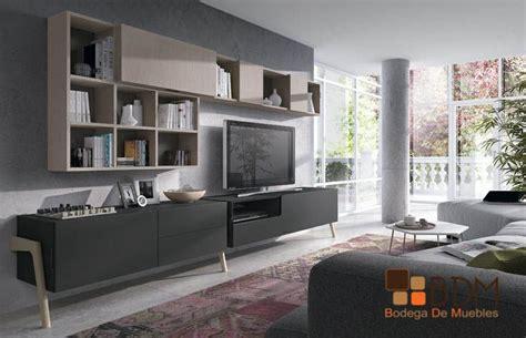 librero y tele mueble para televisi 243 n con librero muy funcional