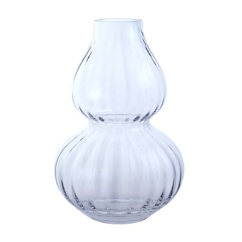 Dartington Vases by Dartington Large Gourd Clear Optic Vase
