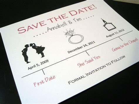 Wedding Save The Date by Wedding Save The Date Ivory Black Onewed