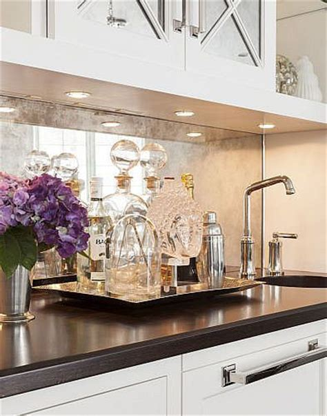 kitchen backsplash mirror antique mirror backsplash www pixshark com images
