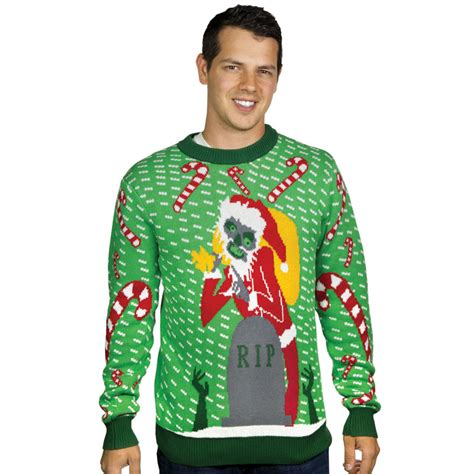 zombie christmas sweater sweater santa stupid