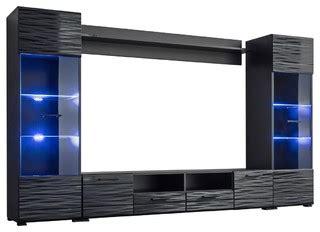 modica modern entertainment center wall unit  blue led