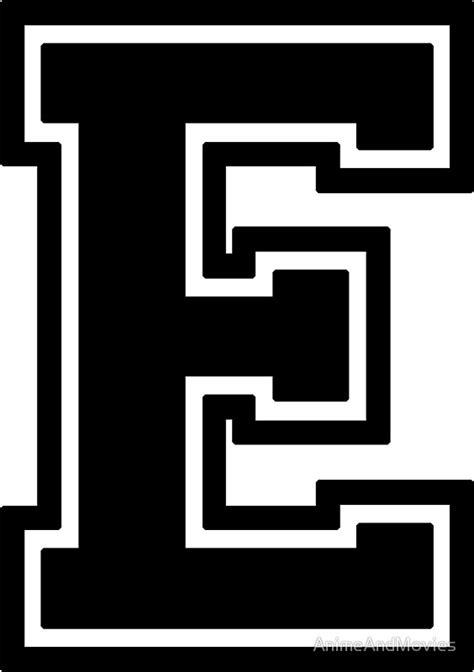 printable varsity font letter e black www pixshark com images galleries with