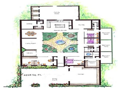 house plans with atrium in center house plans with atrium garden homes with atriums floor